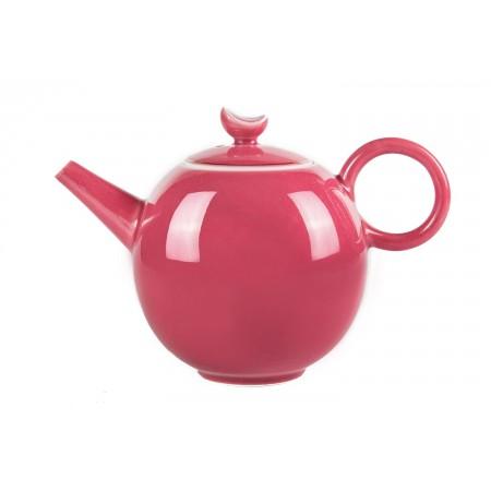 Красный фарфоровый чайник 400мл