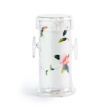 """Колба заварочная фарфор-стекло """"Цветы"""""""
