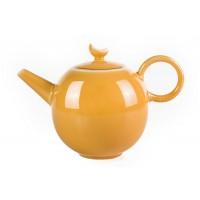 Жёлтый фарфоровый чайник 400мл