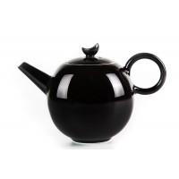 Чёрный фарфоровый чайник 400мл